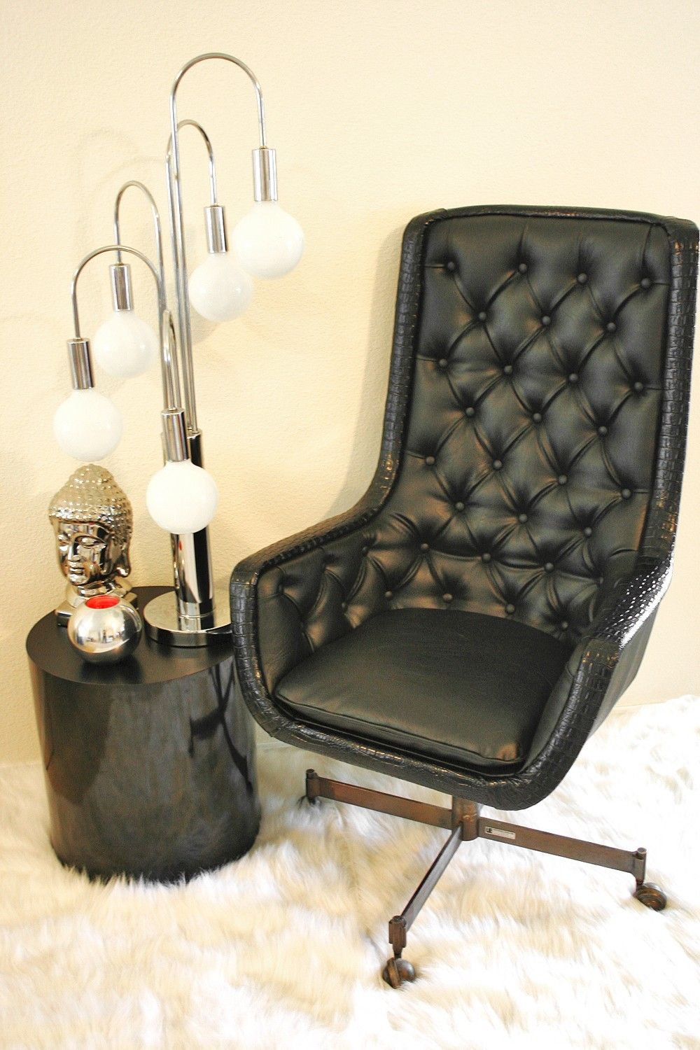 Prime Mad Men Vintage Mid Century Executive Chair In Faux Leather Andrewgaddart Wooden Chair Designs For Living Room Andrewgaddartcom