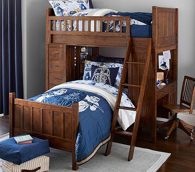 Bunk System with Twin Bed, Navy