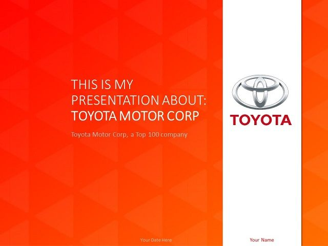 toyota powerpoint template | top 100 global companies templates, Powerpoint templates