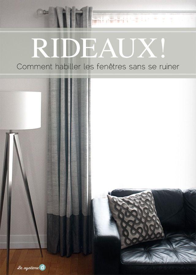comment habiller une fen tre sans se ruiner sonia roy deco rideaux rideaux pinterest. Black Bedroom Furniture Sets. Home Design Ideas
