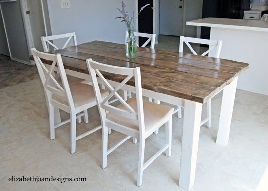 How To Make Your Own Dining Kitchen Table By Elizabeth Joan Designs Via Flickr