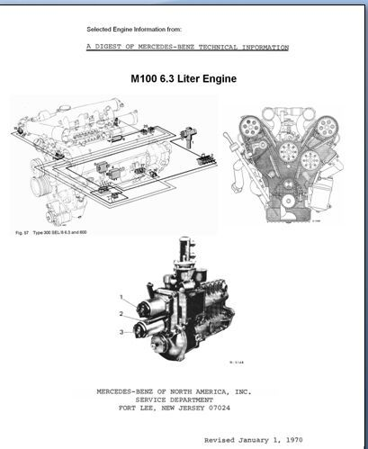 (Advertisement eBay) Mercedes 6.3L M100 ENGINE Service