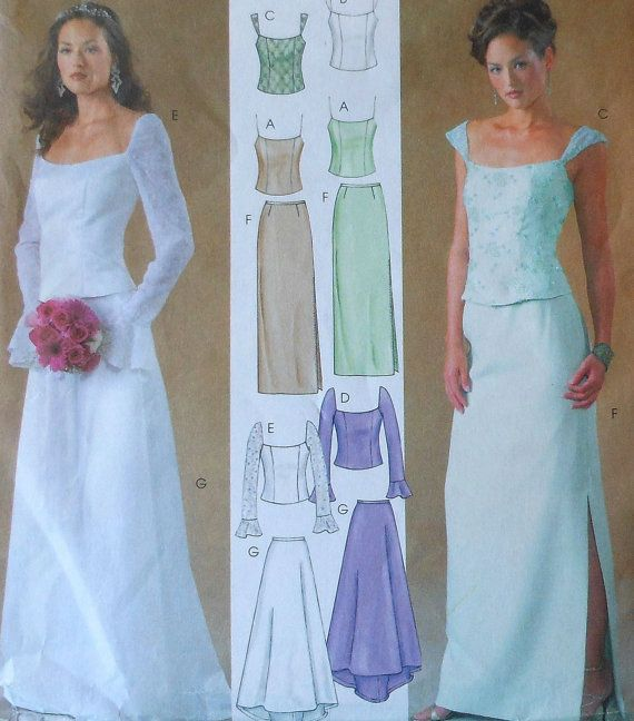 Formal Skirt and Top Sewing Pattern UNCUT McCalls 4298 Evening ...