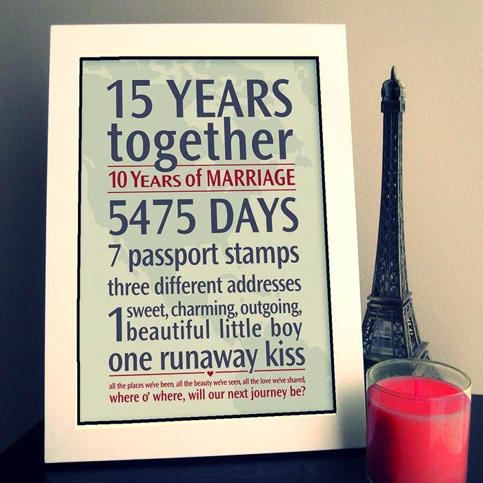 15th Wedding Anniversary Gift Ideas With Images Diy Wedding