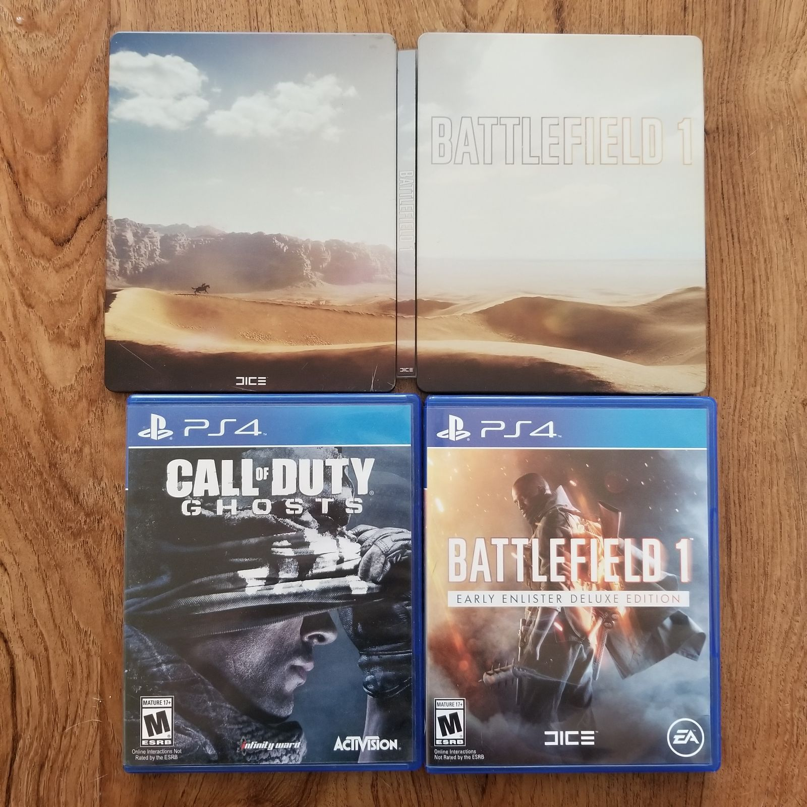Ps4 Games Bundle Call Of Duty Ghosts And Battlefield 1 Comes