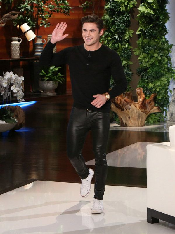 39578f93 Zac Efron visits The Ellen Show #zacefron #april77 #ellen #ellenDeGeneres  #converse #sandro #henleyshirt