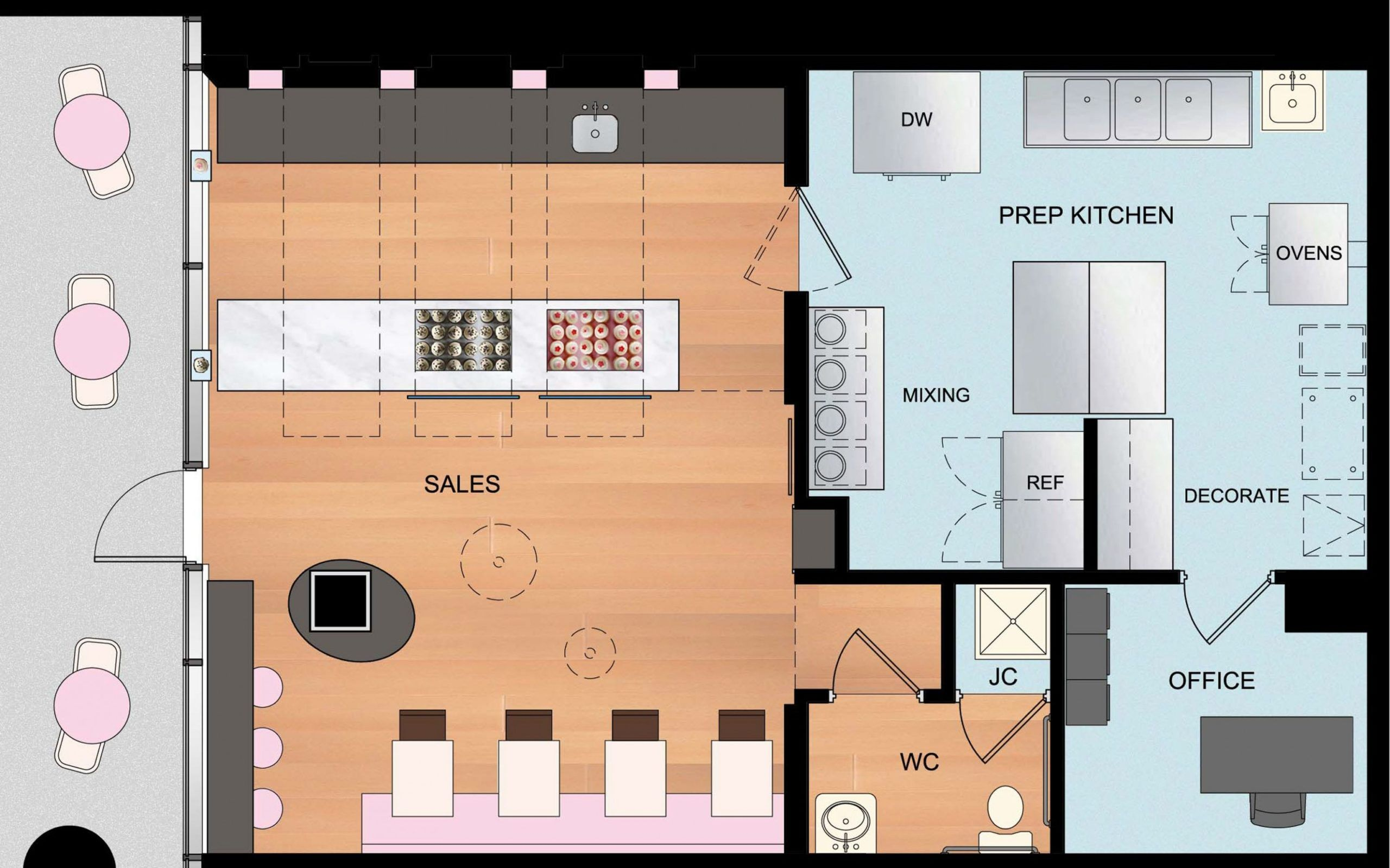 9 Benefits Of Bakery Kitchen Floor Plan Design That May Change ...