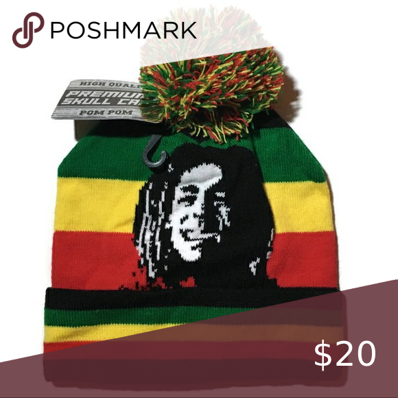 TWO RASTA JAMAICA MAN HAT NOVELTY PARTY REGGAE CAP NEW 420 GANJA CAP @ FREE SHIP