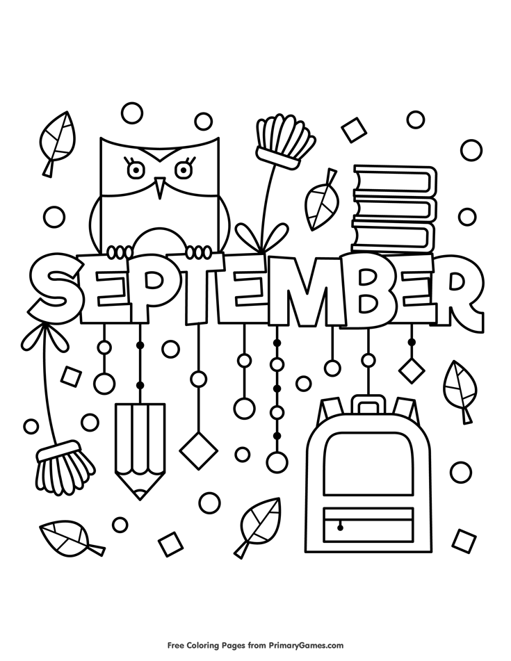 september printable coloring pages - photo#26