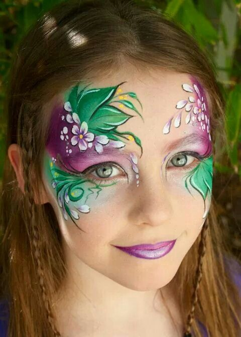 Pin By Cristina Gheorghe On Face Painting Face Painting Flowers Girl Face Painting Face Painting Designs