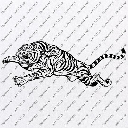 Tiger Svg File Tiger Original Svg Design Animals Svg Clip Art Tiger Vector Graphics Svg For Cricut Svg For Silhouette Svg Eps Dxf