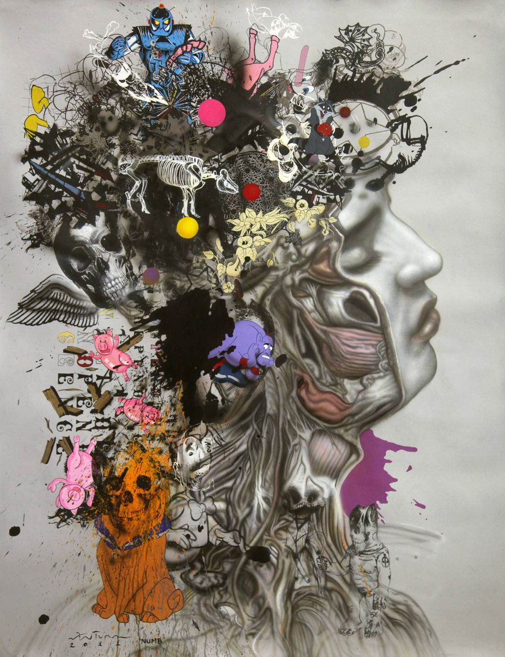 likeafieldmouse Ronald Ventura Numb (2011) Oil on