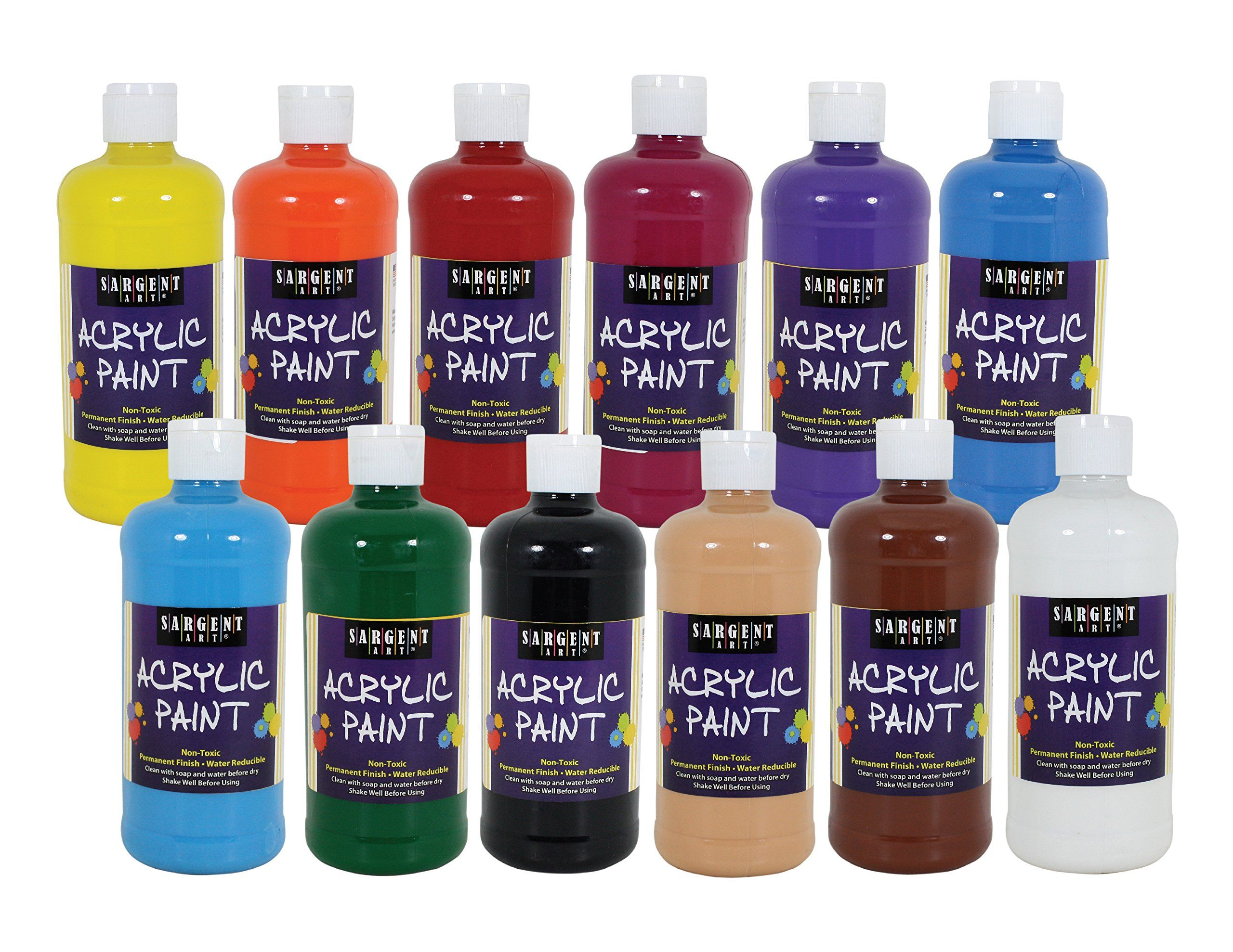 Sargent Art 242498 12count Artist Quality Acrylic Paint Set 12 Different Colors You Can Find Out More De Acrylic Paint Set Paint Set Sargent Art