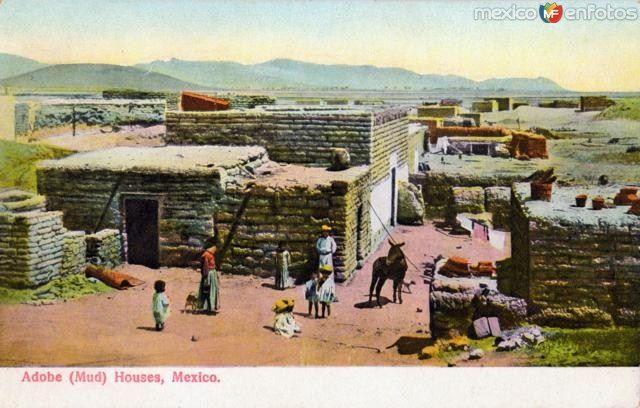 Fotos de , , México: Casas de adobe