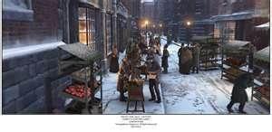 Scene V- Outside of Scrooge's home