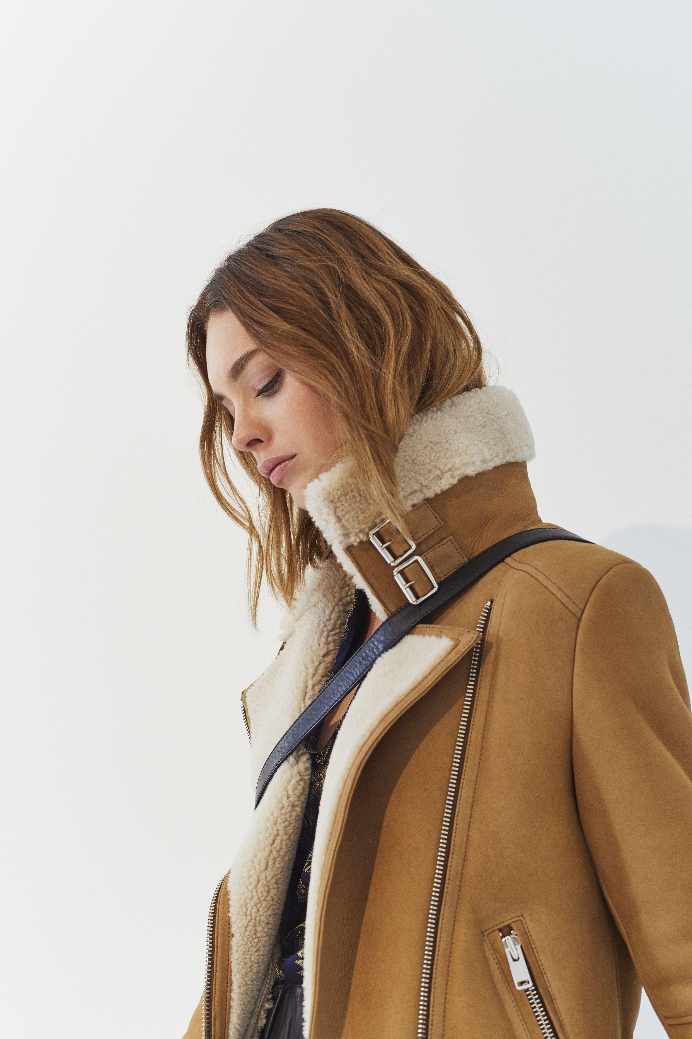 Manteau peaux lainés camel IKKS Women, collection femme Automne hiver 2017   womenstyle   c97e09e4e80