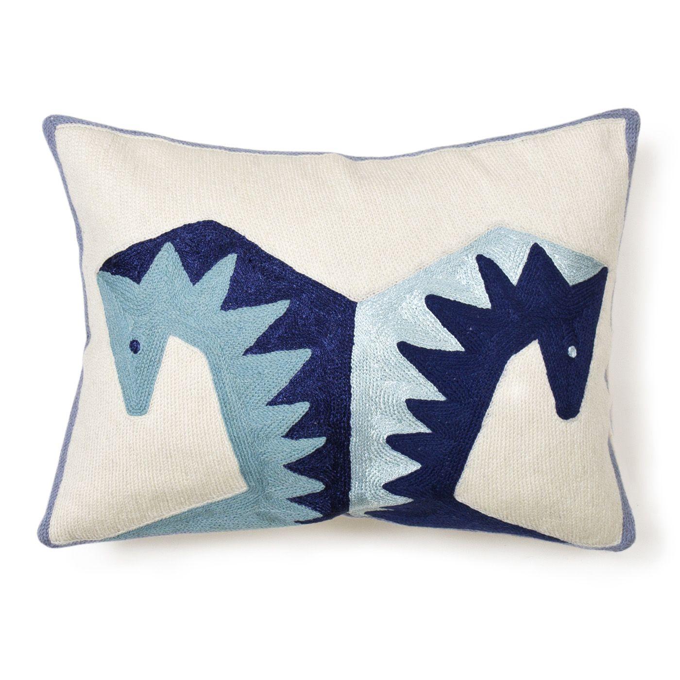 Modern throw pillows brasilia horse wool throw pillow jonathan