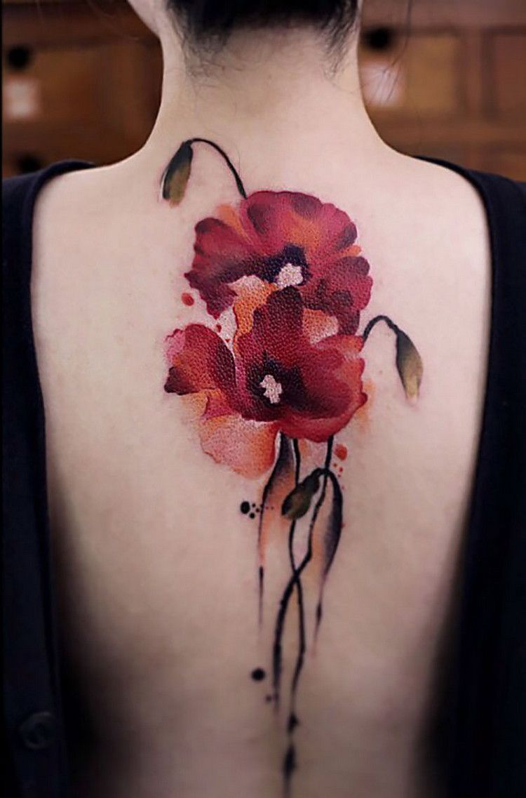 Chen Jie Watercolor And Brushstroke Tattoos Inspired By Ancient