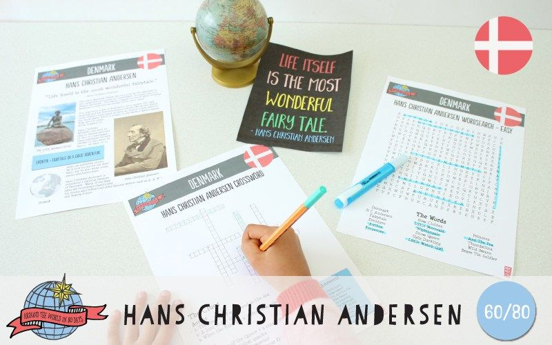 Hans Christian Andersen Activities | Denmark | Around the World in 80 Days | Moomookachoo