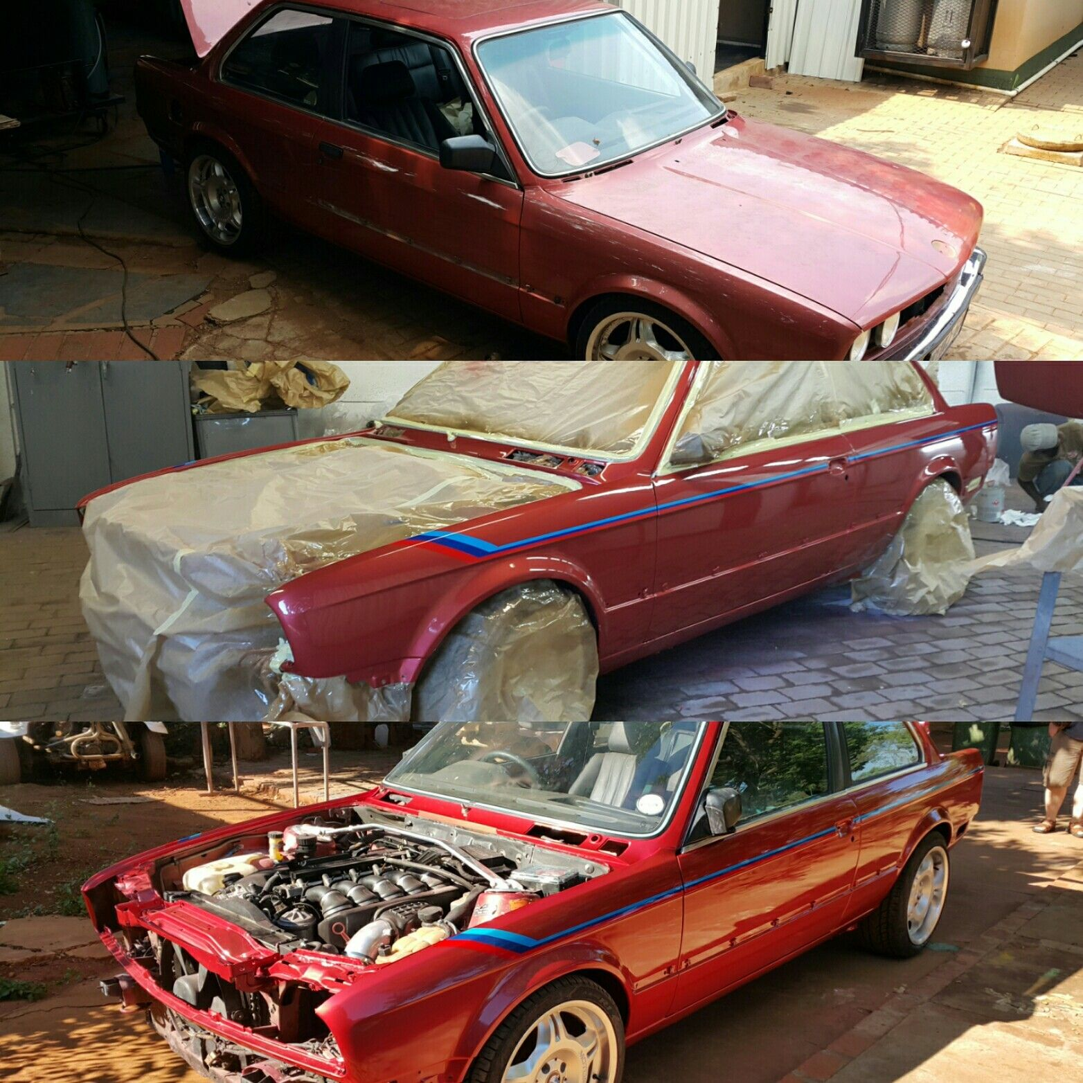 bmw e30 320i got it 39 s fresh coat of paint and an e46 m3. Black Bedroom Furniture Sets. Home Design Ideas
