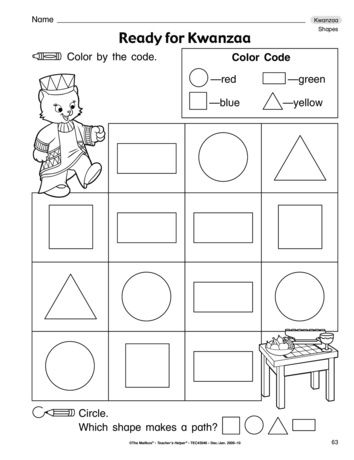 Reinforce Basic Shapes With This Cute Kwanzaa Themed Math Worksheet
