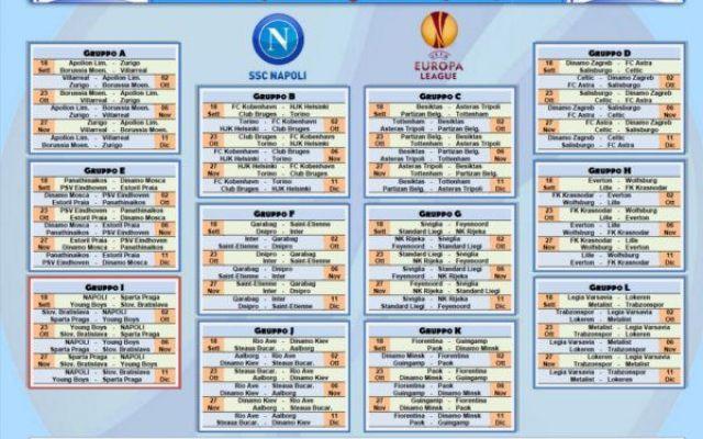 Europa League Napoli Calendario.Prima Pagina Europa League Calendario E Europa