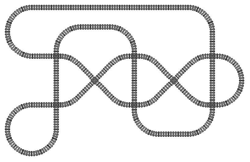 american flyer track layouts