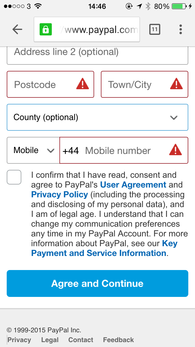 PayPal Ask For Postcode First Then You Can Pick Up City Area - Create an invoice on paypal hallmark store online