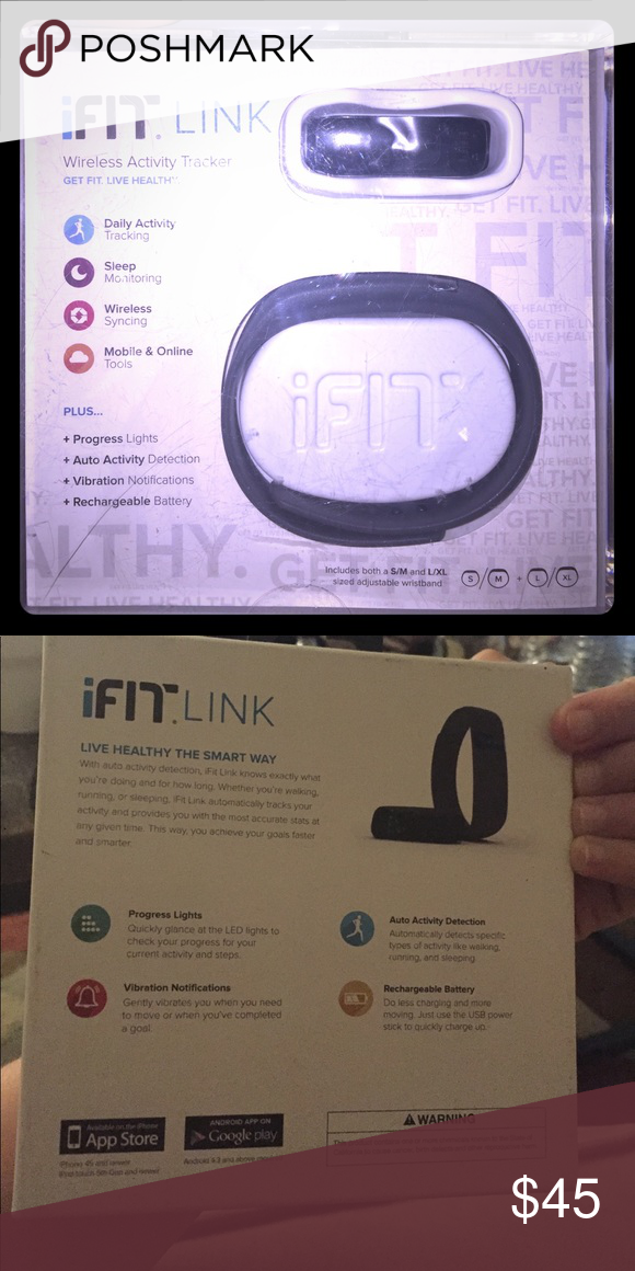IFIT link Tracks daily activity, sleep, wireless syncing