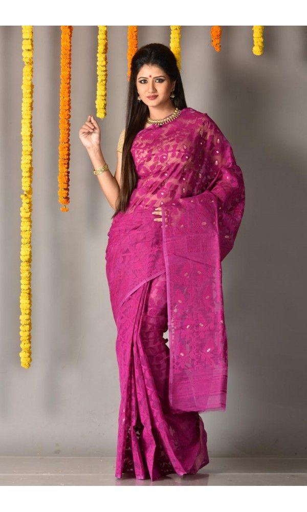 c263190f2c Magenta - Dhakai Saree - Colors Of Bengal - adi3784 | Adimohinimohankanjilal