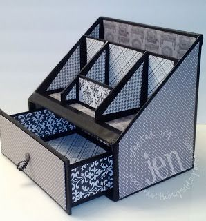 Artes Desk OrganizationOrganizingPaper Box TutorialDiy