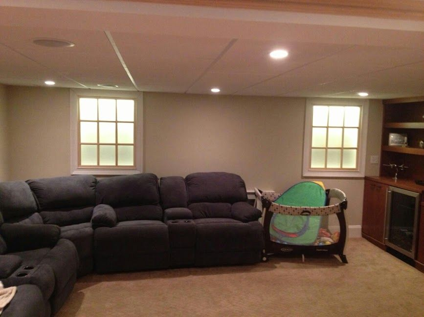 Faux Windows With Backlight For Basement Basement