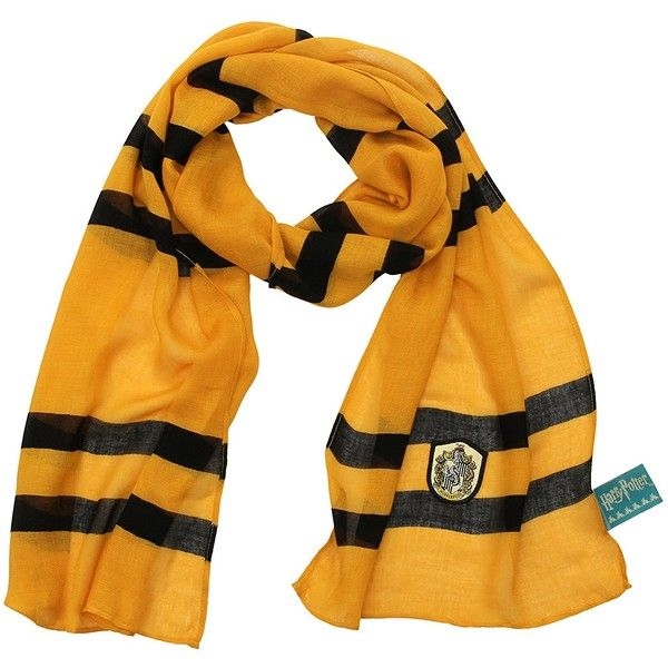 df26d4c3c6f1f elope Harry Potter Hufflepuff House Lightweight Scarf ( 16) ❤ liked on  Polyvore featuring accessories
