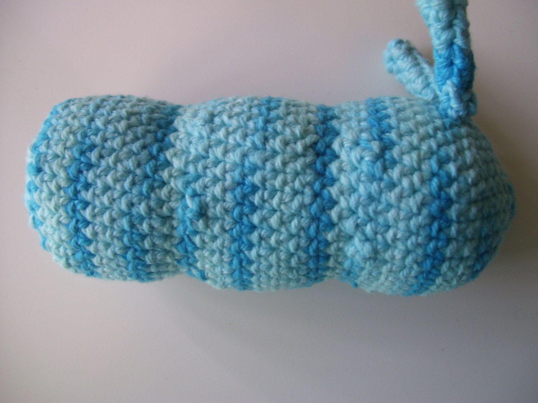Amigurumi Caterpillar : Cotton amigurumi caterpillar plushie catnip cat toy crochet catnip