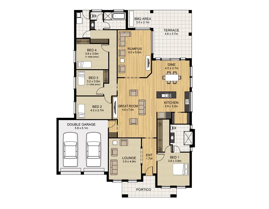 Malibu 225 - Home Designs - Sterling Homes - Home Designs Adelaide ...