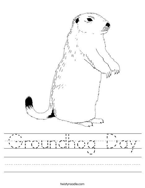 Groundhog Day Worksheet - Twisty Noodle   Groundhogs Day teaching ...