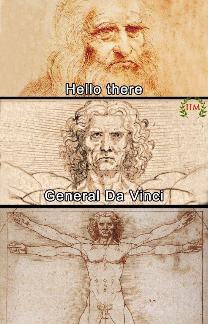 General Da Vinci Star wars jokes, Star wars humor, Star