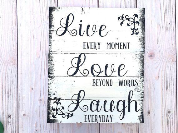 Live Love Laugh Pallet Wall Art Wood Pallet Wall Art Wooden Signs