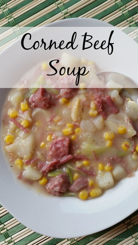 Corned Beef Soup #StPatricksDay | Simply Brianna Joy #MyPicknSave #ad