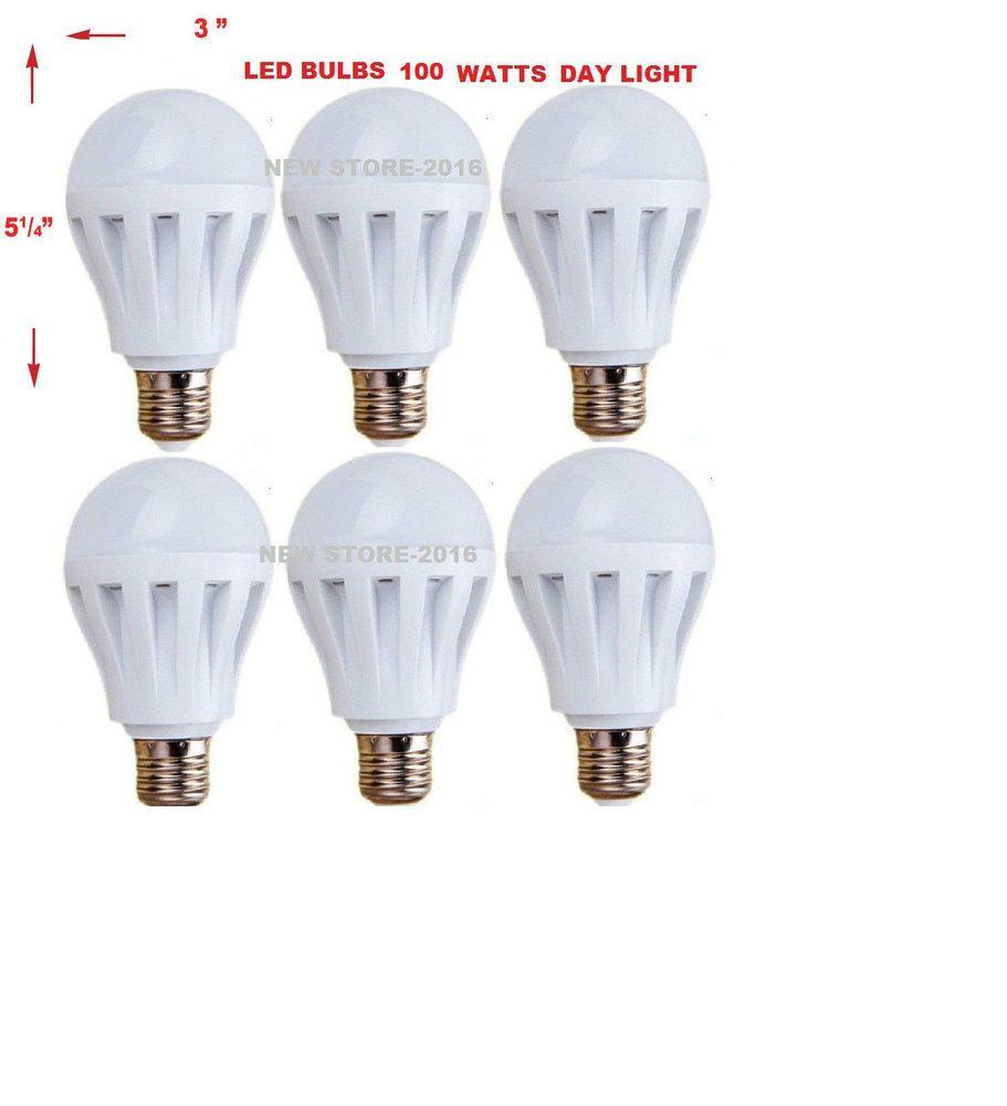 Led Light Bulbs A19 E26 110v 100w Incandescent 480lm 12w Daylight 6 Pack Unbranded Led Light Bulbs Dimmable Led Lights Led Light Bulb