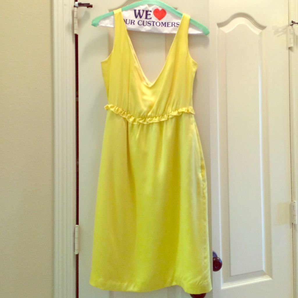 Cooper by courtney warren yellow cocktail dress yellow cocktail