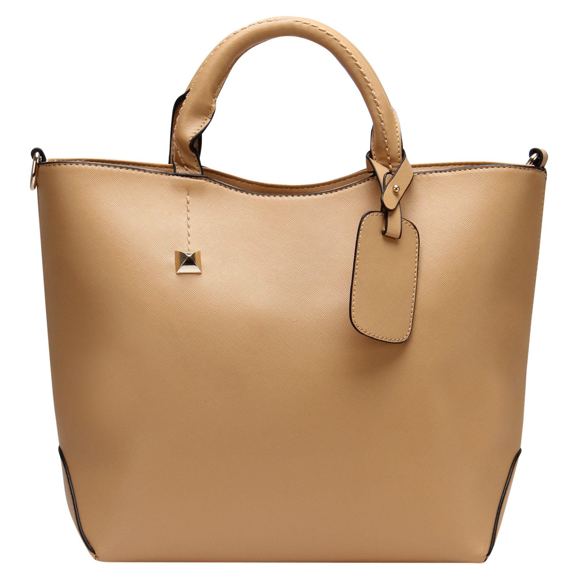 4b374093d5ce Hynes Eagle Womens Patent Leather Boutique Tote Bags Top Handle Handbag  (Khaki)
