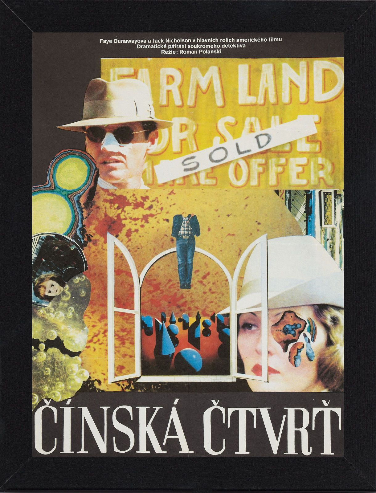 Framed Chinatown Polish Film / Movie Poster A4 Size Mounted In Black ...