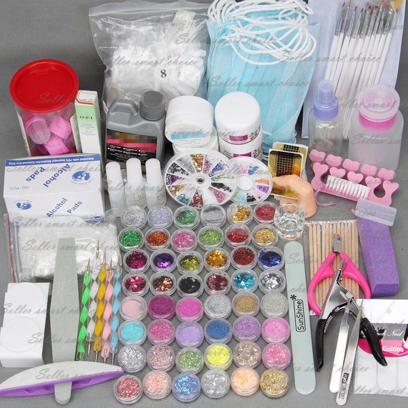 Details About Nail Art Care Set 48pc Acrylic Powder Uv Gel