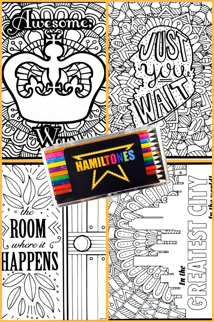hamilton coloring pages are here!  coloring pages