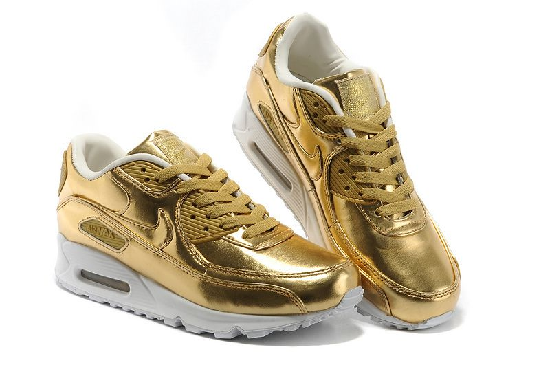 x153fgcleats nike air max 90 liquid gold sneakers