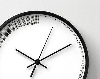 Cool Wood Clock | ... Clock, Housewarming Gift, Office Wall Clock,