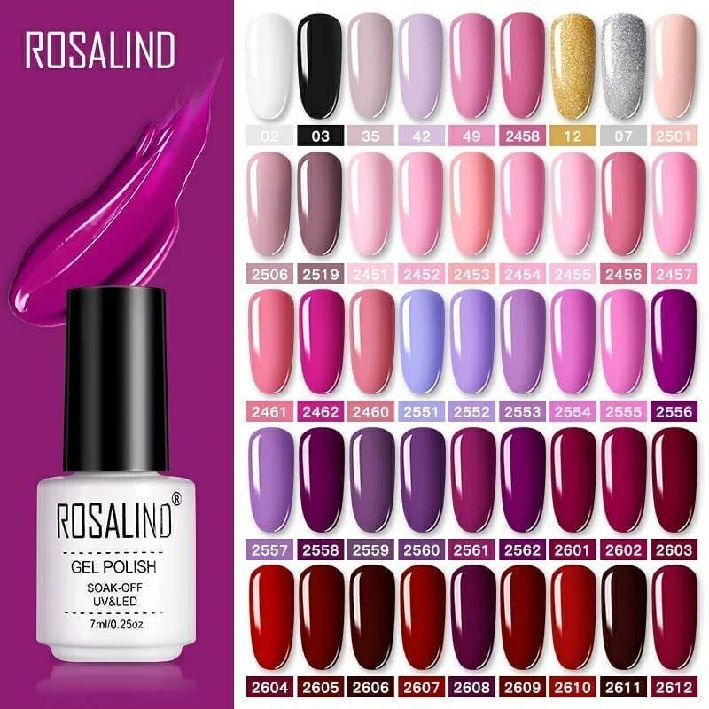 ROSALIND Gel Polish Set UV Vernis Semi Permanent Primer Top Coat 7ML Poly Gel Varnish Nail Art Manicure Gel Lak PolishesNails  #tamil #tamilnadu #lebanon #iraq #qatar #muscut #gelnails #cosmetics #jaipur #india #Pakistan #kuwait