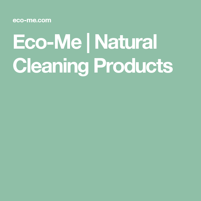 Eco-Me   Natural Cleaning Products