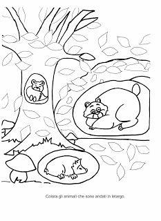 la maestra linda autunno gli animali che vanno in